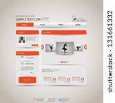 elegant editable website...   Shutterstock .eps vector #131661332