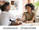 happy female african vacancy... | Shutterstock . vector #1316614268
