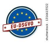 eu dsgvo label illustration | Shutterstock .eps vector #1316615522