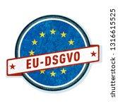eu dsgvo label illustration | Shutterstock .eps vector #1316615525