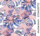 tropical leaves. seamless... | Shutterstock .eps vector #1316628752