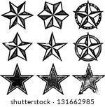 grunge old western stars | Shutterstock .eps vector #131662985