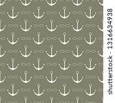 seamless pattern with anchors... | Shutterstock .eps vector #1316634938