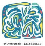 creative artistic background.... | Shutterstock .eps vector #1316635688