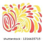 creative artistic background.... | Shutterstock .eps vector #1316635715