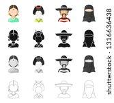 vector illustration of imitator ... | Shutterstock .eps vector #1316636438