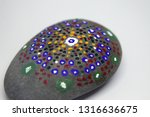 closeup of a uniquely painted... | Shutterstock . vector #1316636675