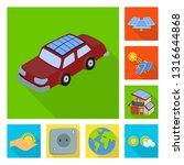 vector illustration of solar... | Shutterstock .eps vector #1316644868