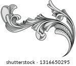 vintage decorative design. old...   Shutterstock .eps vector #1316650295