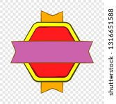 red badge with yellow and... | Shutterstock .eps vector #1316651588