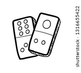 domino hand drawn doodle icon...   Shutterstock .eps vector #1316655422