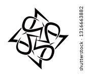 tribal tattoos. art tribal... | Shutterstock .eps vector #1316663882