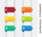 set of colorful numbered ribbon ...   Shutterstock .eps vector #131666642