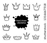 hand drawn set of different... | Shutterstock .eps vector #1316667518