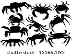 Vector Crab Silhouette