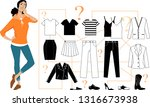 woman standing in front of a...   Shutterstock .eps vector #1316673938
