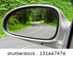 Side View Mirror Reflection Of...
