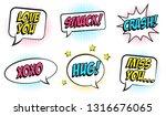 retro colorful comic speech...   Shutterstock .eps vector #1316676065