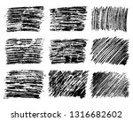 set of nine sketch scribble... | Shutterstock .eps vector #1316682602