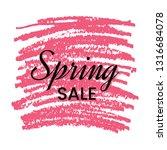 spring sale banner on red... | Shutterstock .eps vector #1316684078