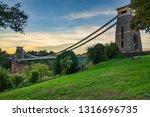 Park in Clifton near the suspension bridge in Bristol city