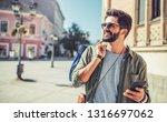 man in shopping. smiling man... | Shutterstock . vector #1316697062