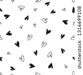 simple little hearts. hand... | Shutterstock .eps vector #1316699108