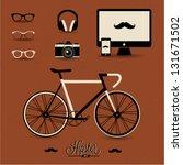 hipster style | Shutterstock .eps vector #131671502