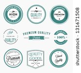 premium quality labels set | Shutterstock .eps vector #131671508