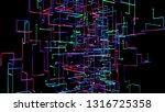 3d illustration network in... | Shutterstock . vector #1316725358