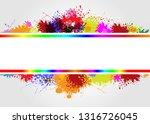 vector frame on splash color... | Shutterstock .eps vector #1316726045