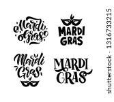 hand drawn brush lettering set. ... | Shutterstock .eps vector #1316733215