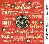 retro coffee badges and labels... | Shutterstock .eps vector #131673845