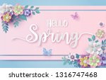 spring season with frame of... | Shutterstock .eps vector #1316747468