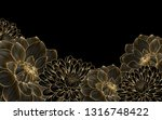 stylish background with gold... | Shutterstock .eps vector #1316748422