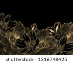 stylish background with gold... | Shutterstock .eps vector #1316748425