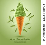green tea   flavored soft ice... | Shutterstock .eps vector #1316748935