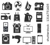 set of household appliances and ... | Shutterstock .eps vector #1316751605