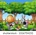 Happy Easter Bunnies Painting...