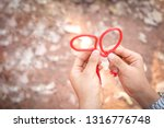 scout knot learning in forest... | Shutterstock . vector #1316776748