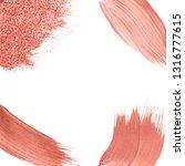 set of pink brush stroke badge... | Shutterstock .eps vector #1316777615