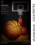 basketball poster advertising... | Shutterstock .eps vector #1316789792