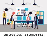 business people office | Shutterstock .eps vector #1316806862