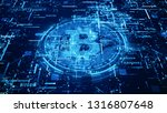 bitcoin currency sign in... | Shutterstock . vector #1316807648