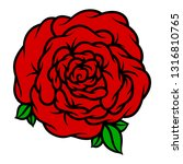 flower rose  red buds and green ...   Shutterstock .eps vector #1316810765