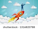 businessmen standing holding...   Shutterstock .eps vector #1316820788