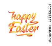stylish calligraphic text happy ... | Shutterstock .eps vector #1316821208