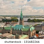 aerial view of hamburg city hall | Shutterstock . vector #131682266