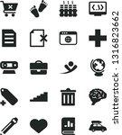 solid black vector icon set  ... | Shutterstock .eps vector #1316823662