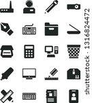 solid black vector icon set  ... | Shutterstock .eps vector #1316824472
